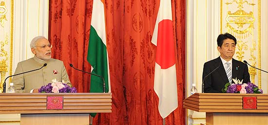Prime Minister at the Joint Press Interaction with Prime Minister Shinzo Abe of Japan