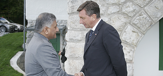 Minister of State for External Affairs meets President Borut Pahor of the Republic of Slovenia in Bled, Slovenia
