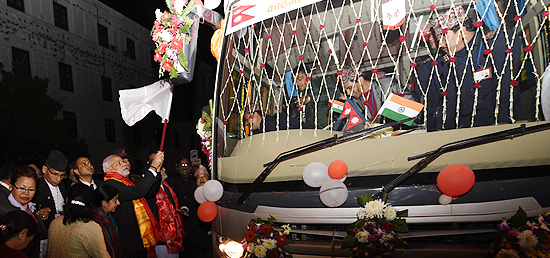 Prime Minister flags-off Kathmandu-Delhi Direct Bus Service during his visit to Nepal
