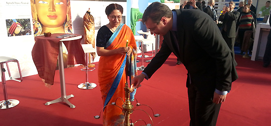 Prime Minister of Serbia, Aleksander Vucic, inaugurates the Indian Pavillion at the Belgrade International Tourism Fair