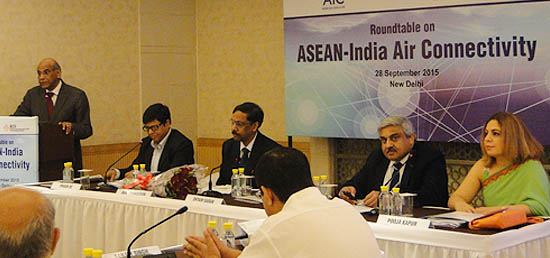 Roundtable on ASEAN-India Air Connectivity at India Habitat Centre in New Delhi