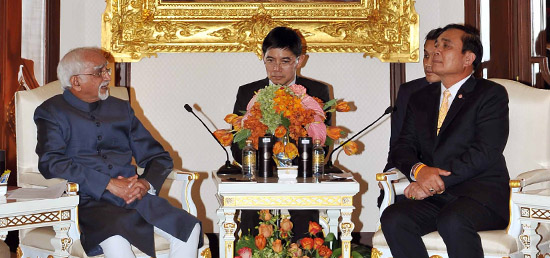 Vice President meets Prime Minister Prayut Chan-o-cha​ of Thailand in Bangkok during his visit to Thailand ​