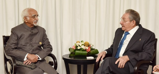Vice President calls on Raúl Castro, President of Cuba on the sidelines of the 17th NAM Summit in Margarita