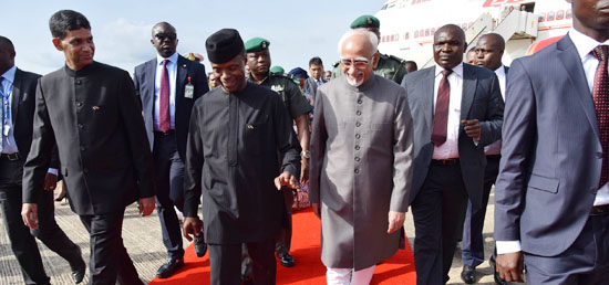 Vice President arrives in Abuja for his four day visit to Nigeria