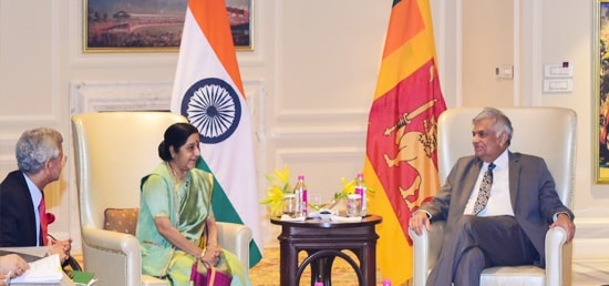 External Affairs Minister calls on Ranil Wickremesinghe, Prime Minister of Sri Lanka in New Delhi during his visit to India