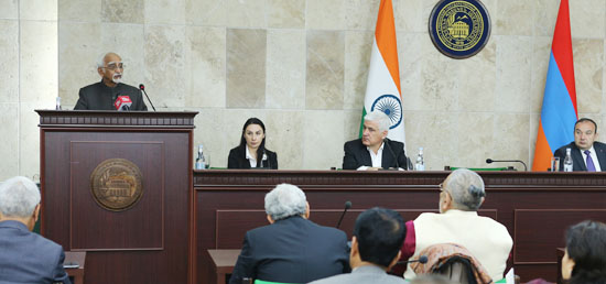 ''Some Thoughts on the World of Tomorrow'' - Vice President addresses at Yerevan State University, Armenia, during his visit to Armenia