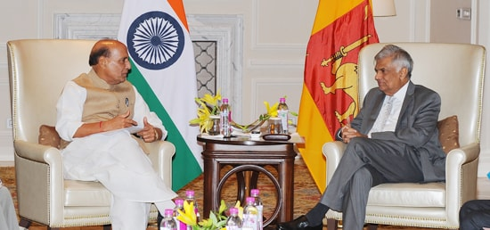 Home Minister calls on Ranil Wickremesinghe, Prime Minister of Sri Lanka during his visit to India
