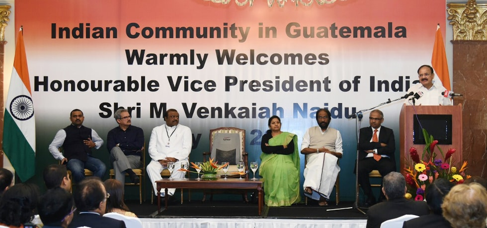 Vice President addresses Indian Community during his visit to Guatemala