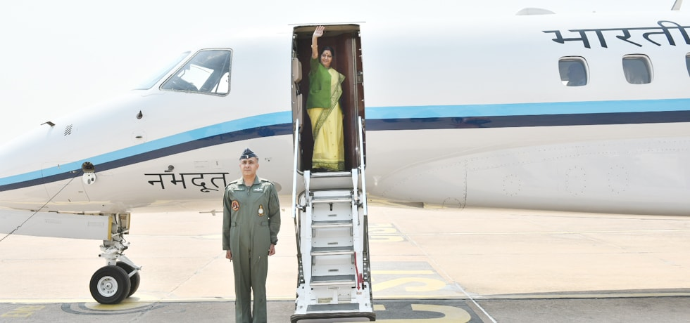 External Affairs Minister departs from New Delhi on 2-day visit to Myanmar