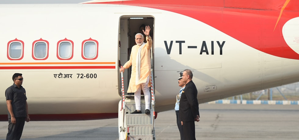 Prime Minister departs from New Delhi on his 2-day visit to Nepal