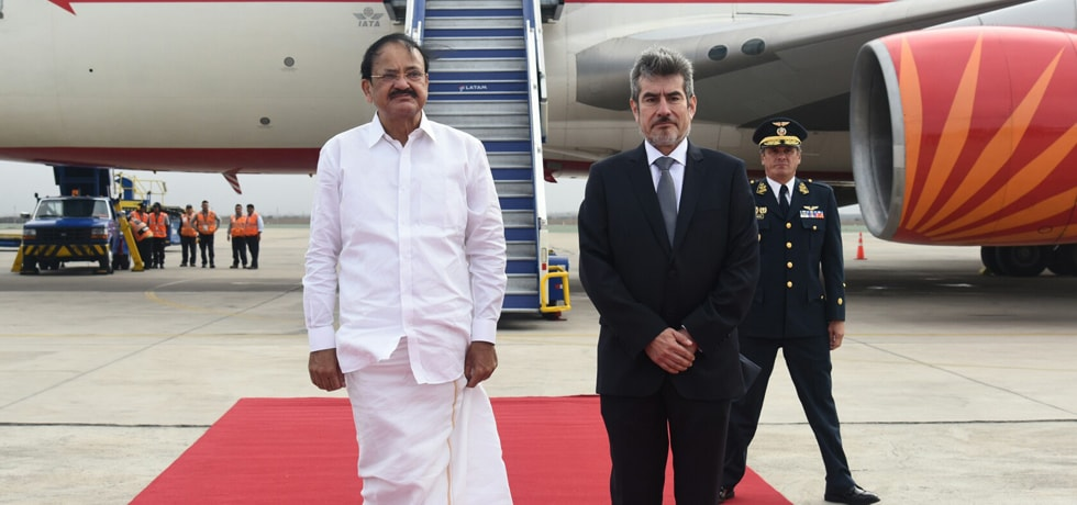 Vice President arrives in Peru on his last leg of 3-Nation visit to Guatemala, Panama and Peru