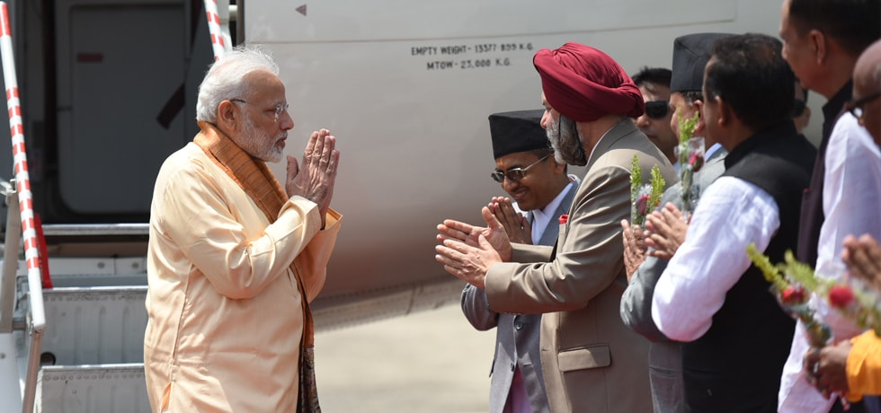 Prime Minister arrives at Janakpur for his 2-day visit to Nepal