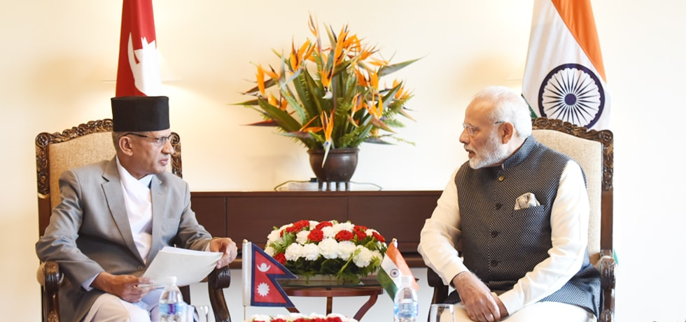 Prime Minister meets Foreign Minister of Nepal during his visit to Nepal