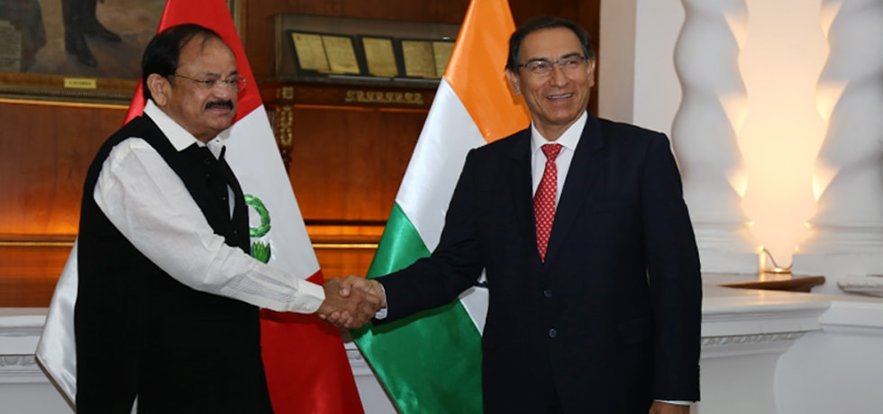 Vice President calls on Martin Vizcarra, President of Peru in Lima