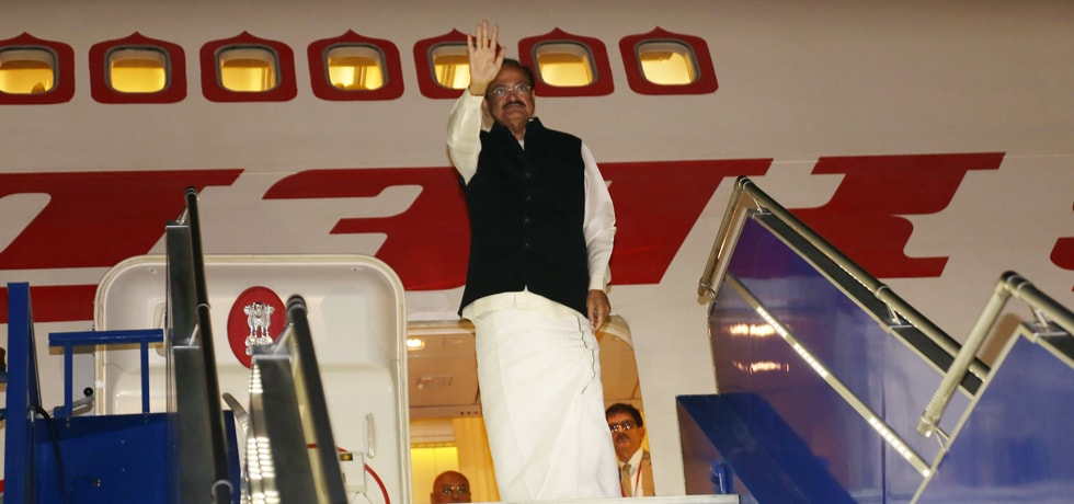 Vice President departs from Lima after successful completion of his 3-Nation visit to Guatemala, Panama and Peru