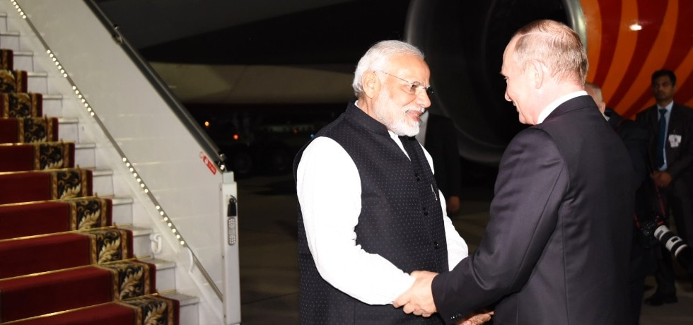 Prime Minister departs from Sochi after successful completion of his 1-day visit to Russia